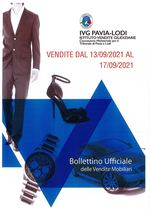 BOLLETTINO VENDITE DAL 13/09/2021 AL 17/09/2021