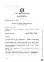 Composizione della crisi da sovraindebitamento n. 36/2016 - Decreto apertura liquidazione