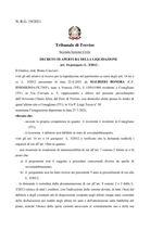 Decreto apertura liquidazione  R.G. 19/2021