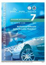 Bollettino ufficiale delle vendite Mobiliari dal 10/03/2021 al 17/03/2021