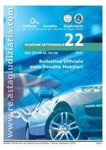 Bollettino ufficiale delle vendite Mobiliari dal 23/06/2021 al 30/06/2021