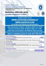 Bollettino aste OnLine termine 02 Marzo 2021