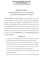 Composizione della crisi da sovraindebitamento n. 25/2016 - Decreto apertura liquidazione
