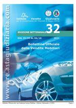 Bollettino ufficiale delle vendite Mobiliari dal 29/09/2021 al 06/10/2021