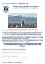BOLLETTINO N. 33 DAL 07 AL 12 DICEMBRE 2020