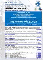 Bollettino aste OnLine termine 20 Aprile 2021