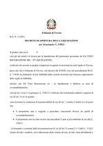Decreto apertura liquidazione  R.G. 11/2021