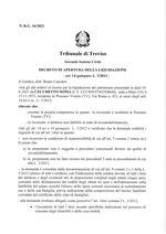 Decreto apertura liquidazione  R.G. 16/2021