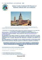 BOLLETTINO N. 1 DAL 6 AL 11 GENNAIO 2020