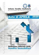 Bollettino Ufficiale delle Aste Giudiziarie Sezione Immobiliare Aprile 2020