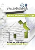 Bollettino Ufficiale delle Aste Giudiziarie Sezione Immobiliare Novembre 2021