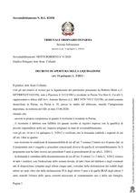 Decreto di Apertura Liquidazione del patrimonio 8/20