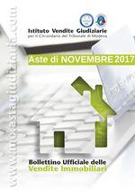 Bollettino Ufficiale delle Aste Giudiziarie Sezione Immobiliare Novembre 2017