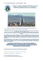 BOLLETTINO N. 26 DAL 28 GIUGNO AL 03 LUGLIO 2021