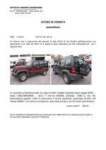AVVISO DI VENDITA  autovettura  RGE 1109/18 LOTTO IVG  90/18