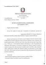 Composizione della crisi da sovraindebitamento n. 1/2019 - Decreto di apertura