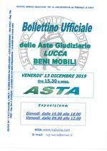 BOLLETTINO MOBILIARE ASTA 13/12/2019