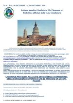 BOLLETTINO N. 44 DAL 9 AL 14 DICEMBRE 2019
