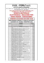 Bollettino Fallimento 91/17 - 05/18 Uffici - Materiale elettronico - Video poker