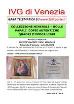 AVVISO DI VENDITA dal 21.09 al 21.10.2021 EREDITA' GIACENTE PROC. 4016/2019 Copie autentiche Quadi d'epoca e Libri - Trib. Venezia- Lotto 01/2021