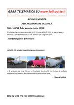 AVVISO DI VENDITA ASTA FALLIMENTARE art. 107 L.F. FALL. 106/18  Trib. Venezia- Lotto 19/18