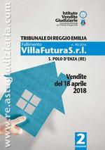 Bollettino ufficiale delle vendite immobiliari Villa Futura (San Polo d'Enza) - Aprile 2018