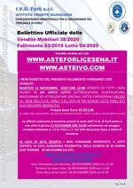 Bollettino Fallimento 63/19 - Attrezzature -scaffalature-campionature -i