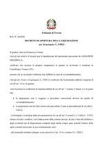 Decreto apertura liquidazione  R.G. 36/20