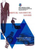 BOLLETTINO VENDITE DEL 13/01/2020 E DEL 15/01/2020