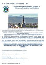 BOLLETTINO N. 18 DAL 03 MAGGIO AL 08 MAGGIO 2021