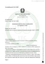 Composizione della crisi da Sovraindebitamento N. R.G 2/2020-Decreto apertura procedura