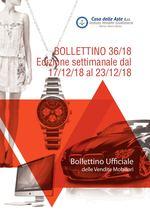 BOLLETTINO MOBILIARE 36/18 dal 17/12/18 al 23/12/18
