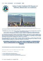 BOLLETTINO N. 11 DAL 16 MARZO AL 21 MARZO 2020