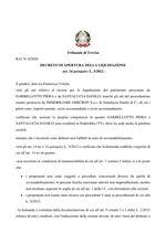 Decreto apertura liquidazione  R.G. 8/20