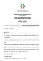 Procedura di Sovraindebitamento   R.G. n. 20/2017 del 18/05/2021