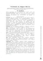 Composizione della crisi da sovraindebitamento RG 1219/2017 decreto del 31/05/2018