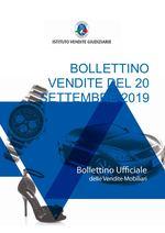 Bollettino Vendite 20 Settembre 2019
