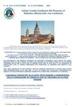 BOLLETTINO N. 30 DAL 16 AL 21 NOVEMBRE 2020