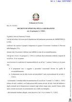 Decreto apertura liquidazione  R.G. 18/2021