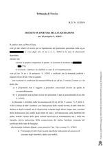 Decreto apertura Liquidazione R.G. 11/2019