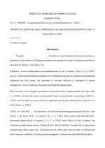 Decreto Apertura Liquidazione 900/2020