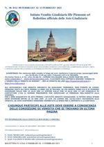 BOLLETTINO N. 6 DALL'8 AL 13 FEBBRAIO 2021