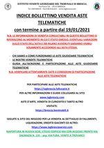 BOLLETTINO ASTE TELEMATICHE MOBILIARI CON VENDITA IN SCADENZA A PARTIRE DAL 19/01/2021
