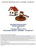 BOLLETTINO IMMOBILIARE PROVVISORIO AGOSTO - SETTEMBRE 2019