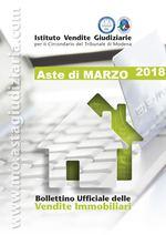 Bollettino Ufficiale delle Aste Giudiziarie Sezione Immobiliare Marzo 2018