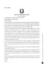 Composizione della crisi da sovraindebitamento n. 34/2018 - Decreto apertura liquidazione