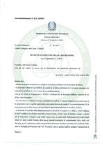 Composizione della crisi da sovraindebitamento n. 10/2019 - Decreto apertura liquidazione