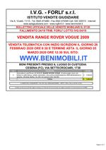Bollettino Fallimento 24/19 - 04/19 Range Rover