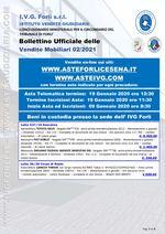 Bollettino aste OnLine termine 19 Gennaio 2021