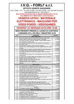 Bollettino Fallimento 91/18 - 05/18 Uffici - Materiale elettronico - Video poker
